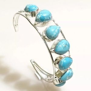 Jewelry - Caribbean Larimar Gemstone Handmade Bangle